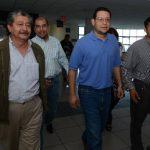 La jueza Yolanda Figueroa dejó en libertad a los acusados, pero deberán cumplir varias restricciones. Fotos EDH / Mauricio Cáceres.