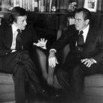 Frost en una entrevista con Nixon en 1977
