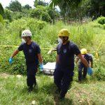 Recuperan el cadáver de un hombre de 60 años con casi cinco días de asesinado, en Chalchuapa. Foto EDH / Cristian Díaz