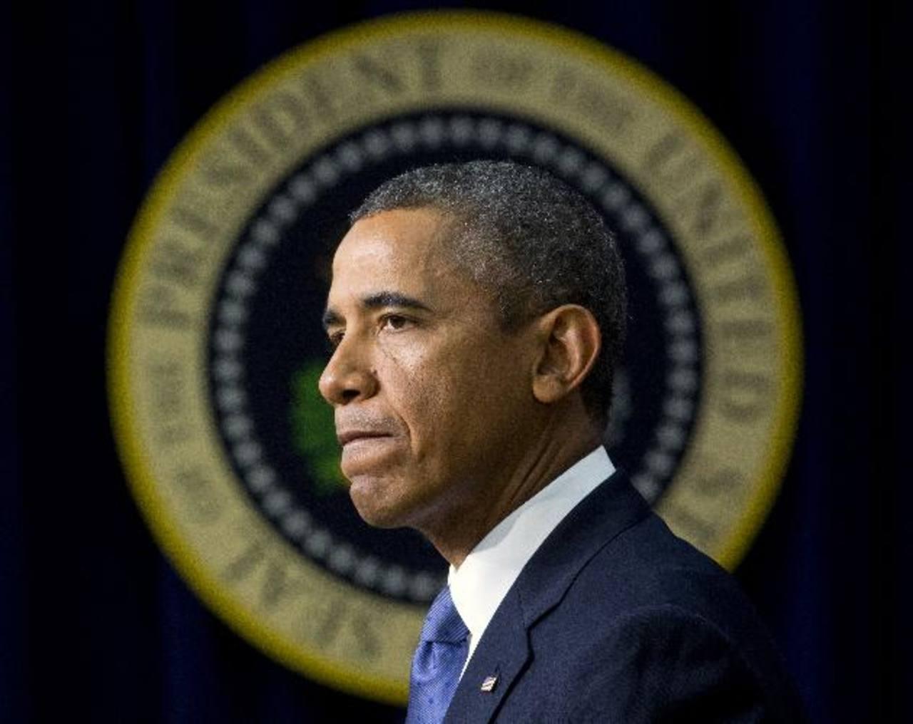 El presidente de los EE.UU., Barack Obama, habla a los medios en la Casa Blanca. foto edh / ap
