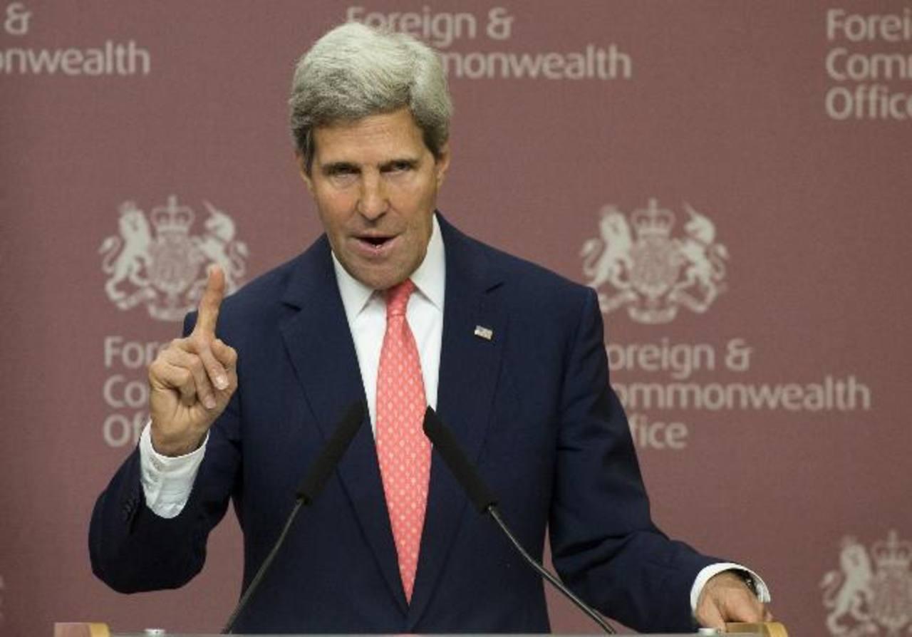 El secretario de Estado de Estados Unidos, John Kerry. FOTO EDH ARCHIVO.