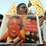 Una protesta en Egipto contra el gobierno de Estados Unidos.