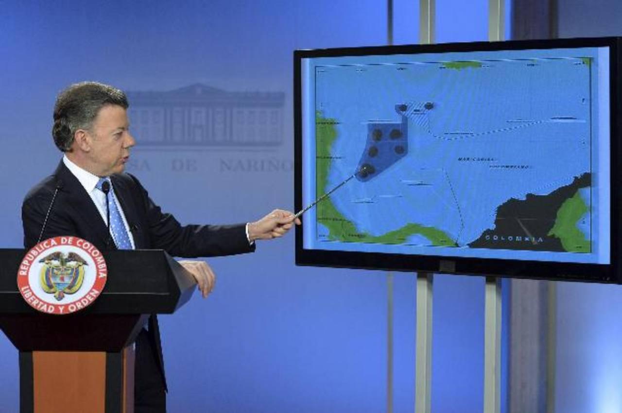 """El presidente colombiano, Juan Manuel Santos, sostuvo que fallo de la Haya """"no es aplicable"""". Foto/ Reuters"""