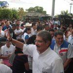 Norman Quijano, candidato de ARENA, visitó ayer el municipio de San Juan Nonualco, en La Paz. Foto EDH / cortesía