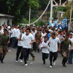 La Antorcha Centroamericana ingresó hoy a El Salvador, como parte de los festejos patrios. Foto/ EDH