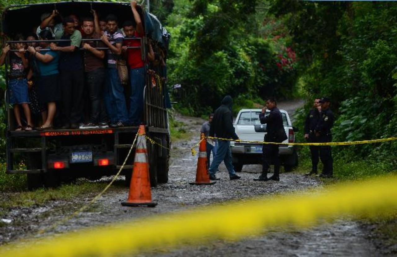La población de Azacualpa en Armenia está conmovida por el doble asesinato registrado el sábado por la noche.