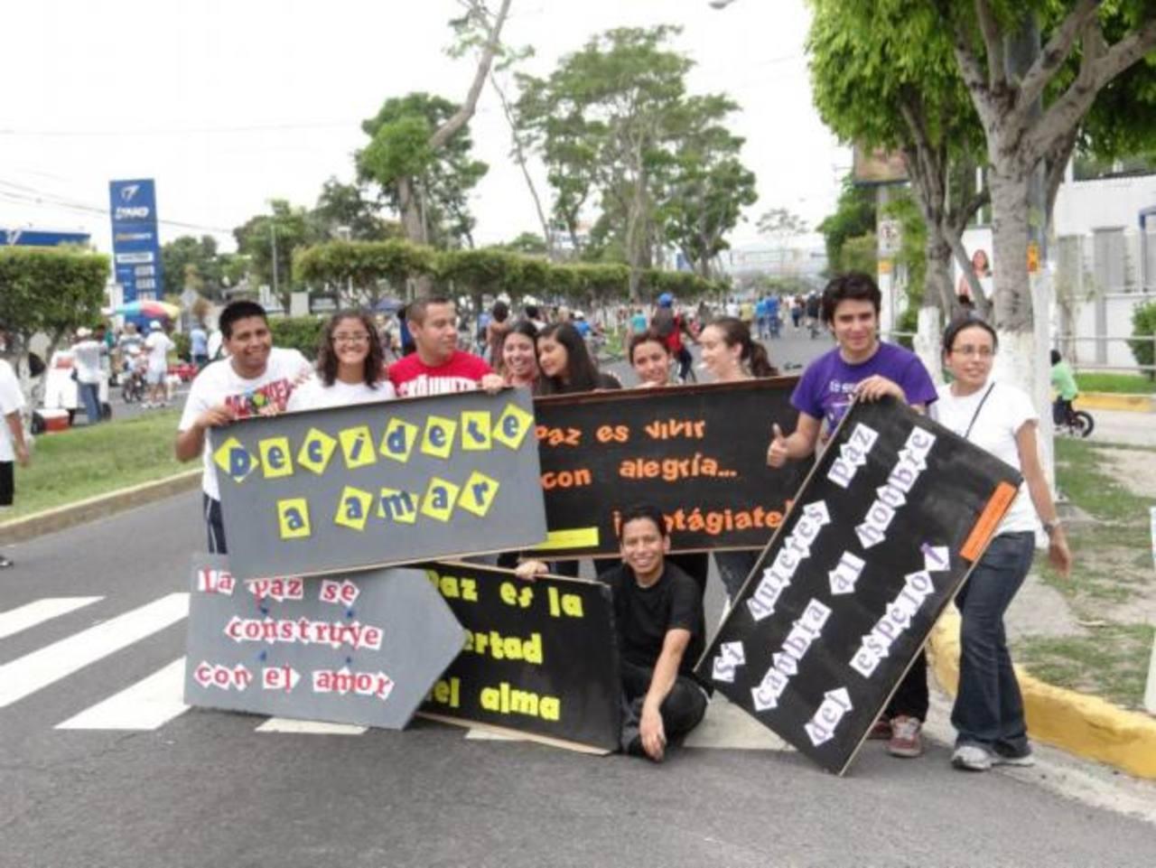 La misión de este movimiento es incentivar a los jóvenes de la región centroamericana para se unan y sean protagonistas de un cambio social. fotos edh/cortesia Fotocolares.