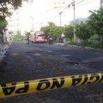 En este bus quedó el cadáver del presunto asaltante. FOTO EDH Claudia Castillo, vía Twitter.