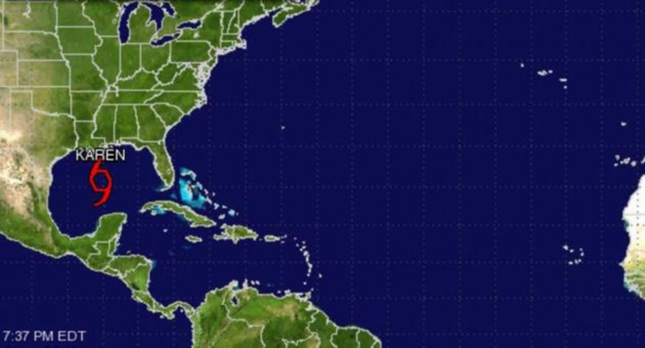 Tormenta Karen amenaza la costa sur de EEUU