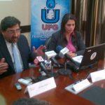 Miembros del Centro de Estudios Ciudadanos de la UFG. FOTO EDH tomado de @Anaevange