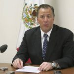 El secretario de Relaciones Exteriores de México, José Antonio Meade, en conferencia de prensa en la Misión Permanente de México ante las Naciones Unidas en Ginebra, Suiza. Foto/ AP