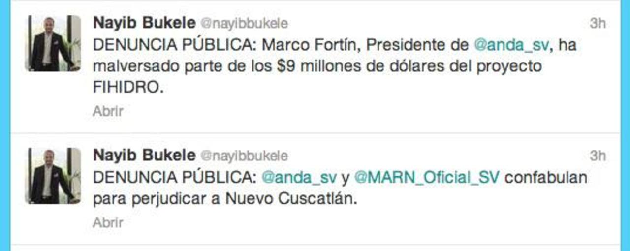 Nayib Bukele acusa de malversación a Marco Fortín