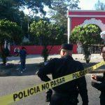 La PNC custodia la zona del homicidio. FOTO EDH Jaime Anaya, vía Twitter.