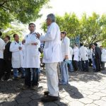 Como medida de protesta, los médicos suspendieron consultas y cirugías programadas. Fotos EDH / Claudia castillo