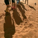 Al menos 20 personas sobrevivieron a la travesía. Cinco de ellas caminaron decenas de kilómetros a través del abrasador desierto para informar a las autoridades. Foto/ Archivo