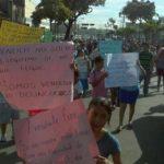La protesta ha generado congestionamientos. FOTO EDH Marlos Hernández, vía Twitter.