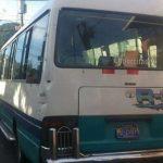Ruta 3 microbús en paro de labores tras ataque a uno de sus empleados. Foto EDH/ Claudia Castillo