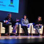 Entre los panelistas estuvo Sarah Thorn, directora ejecutiva de la Oficina de Walmart para relaciones gubernamentales en EE.UU y Adriana Roccaro, representante de la corporación AES.