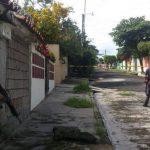 Escena del doble homicidio. FOTO EDH Ericka Chávez, vía Twitter,