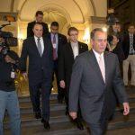 Algunos senadores republicanos a su llegada a la Casa Blanca