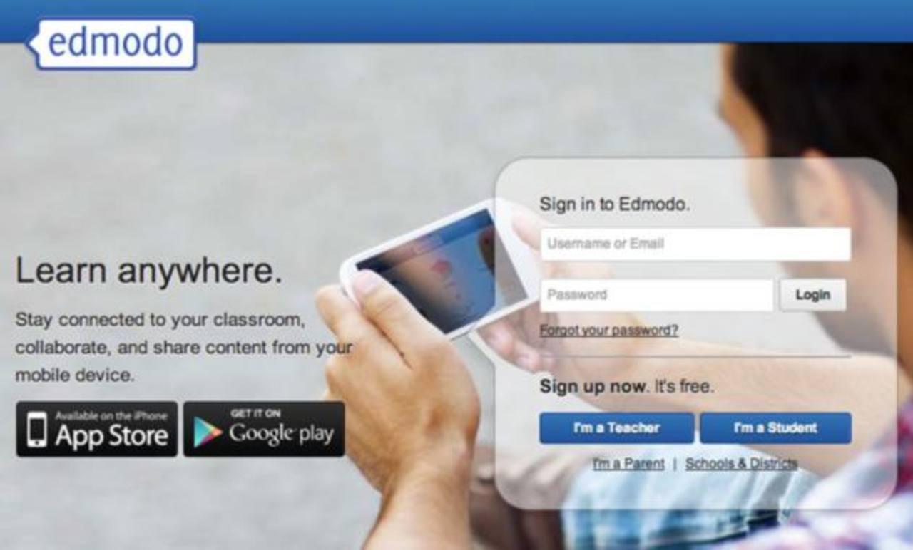 Esta es la portada de la red social, al ingresar a www.edmodo.com y en ella, crea una comunidad virtual donde pueda compartir con otros.