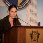 Yoani Sánchez presentó un sombrío informe de la situación de la prensa en Cuba ante la SIP.