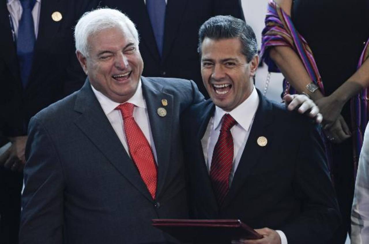 Martinelli y Peña agilizarán las negociaciones para que el tratado comercial se firme antes de que termine el año. Foto EDH/ap
