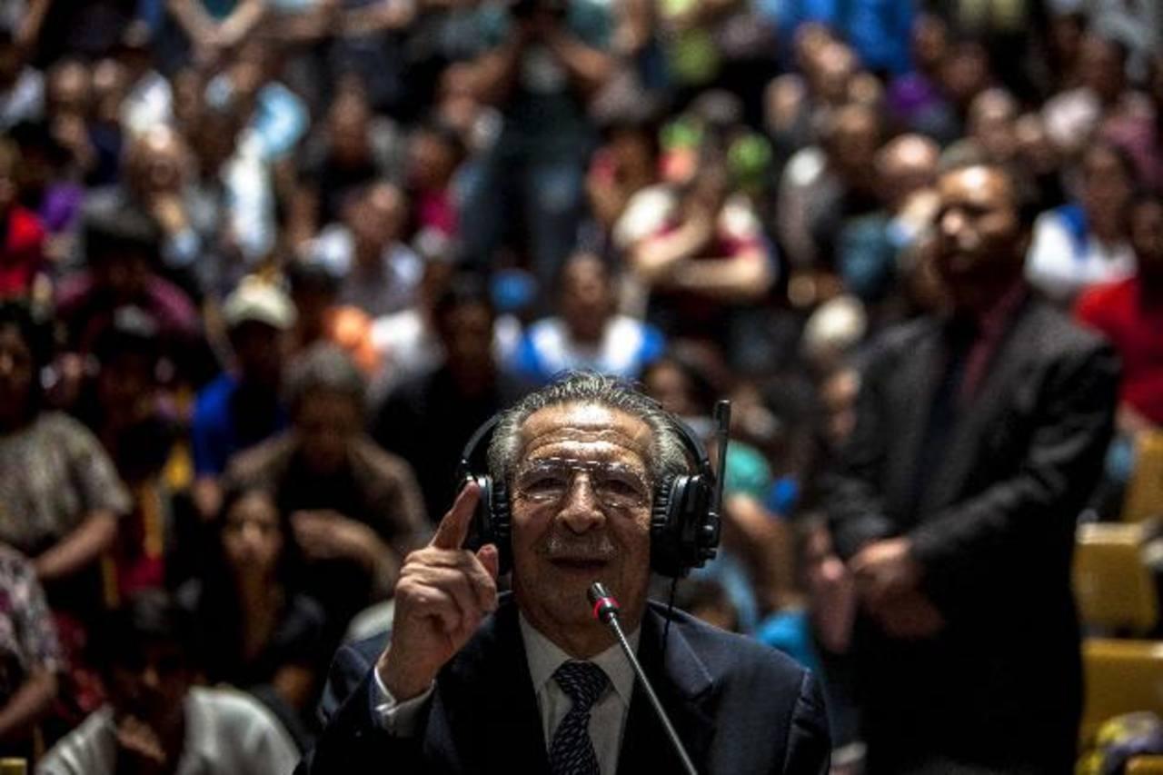 Ríos Montt, ahora de 87 años, gobernó de facto Guatemala; en mayo pasado fue condenado a 80 años de cárcel. foto edh/