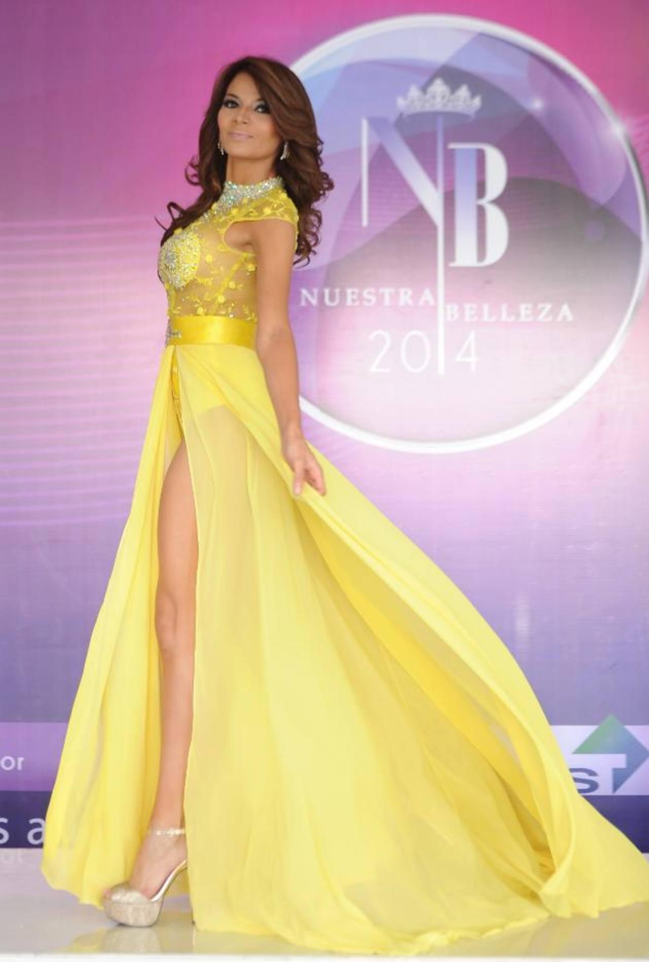 Nuestra Belleza ES lucirá este vestido de DJ Domínguez Couture. FOTO EDH /marvin recinos