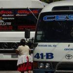 Los microbuses de la ruta 41B no prestaron servicio este miércoles, en paro por amenazas y extorsión de pandillas. De igual forma lo hicieron en agosto los buses de la misma ruta. FOTO EDH/Archivo