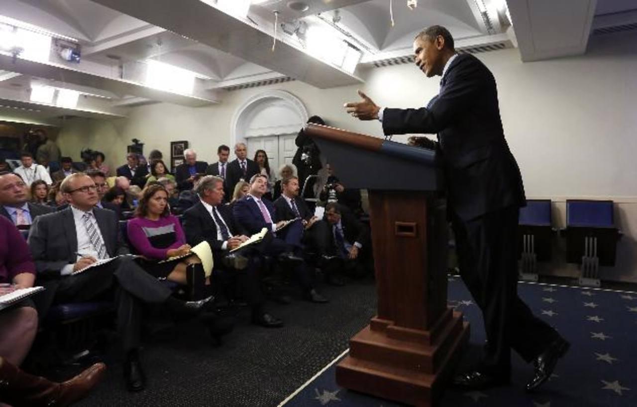 """Obama dijo en la conferencia en la Casa Blanca que no aumentar el techo de deuda será una """"bomba nuclear"""". EDH /reuters"""