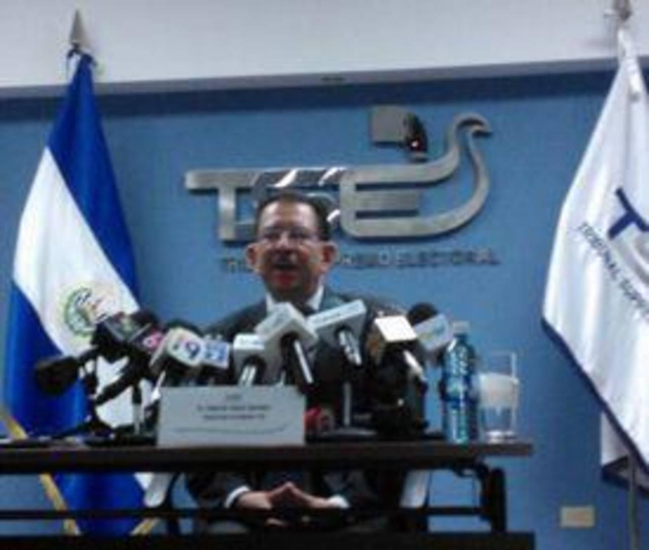 El magistrado presidente del TSE brindó detalles del inicio de la campaña electoral. Foto tomada del Twitter TSE