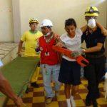 Autoridades de Protección Civil y pobladores participaron del simulacro de terremoto. Foto EDH /Insy Mendoza