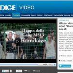 En la imagen aparece, en círculo, Josué Gerardo Isaac Flores Sotto, 25, alias Kamikaze, considerado el jefe de la banda, junto a otros detenidos (tomado del sitio http://www.ilgiorno.it/milano).