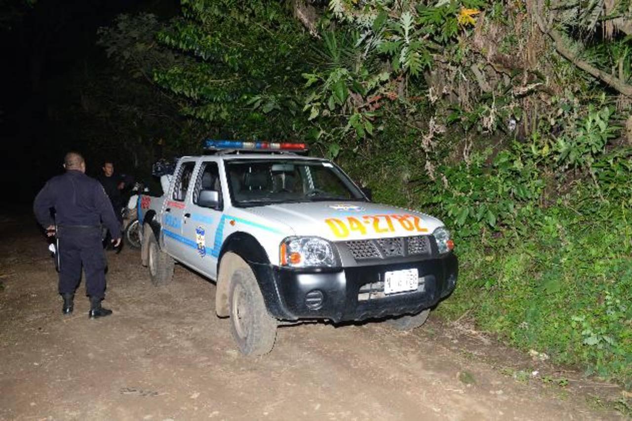 La PNC mandó varias patrullas a la zona tras la denuncia.