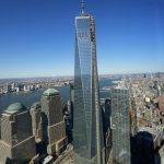 La nueva Torre 1 del World Trade Center es vista desde el piso 68 de la Torre 4, este miércoles 13 de noviembre.