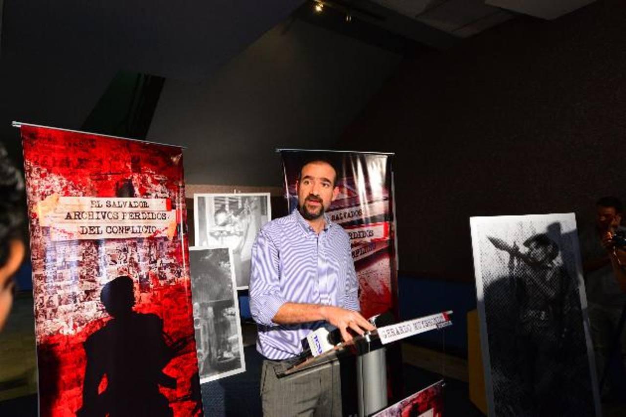 Ayer Gerardo Muyshondt dio detalles de la producción. Foto EDH / Omar Carbonero