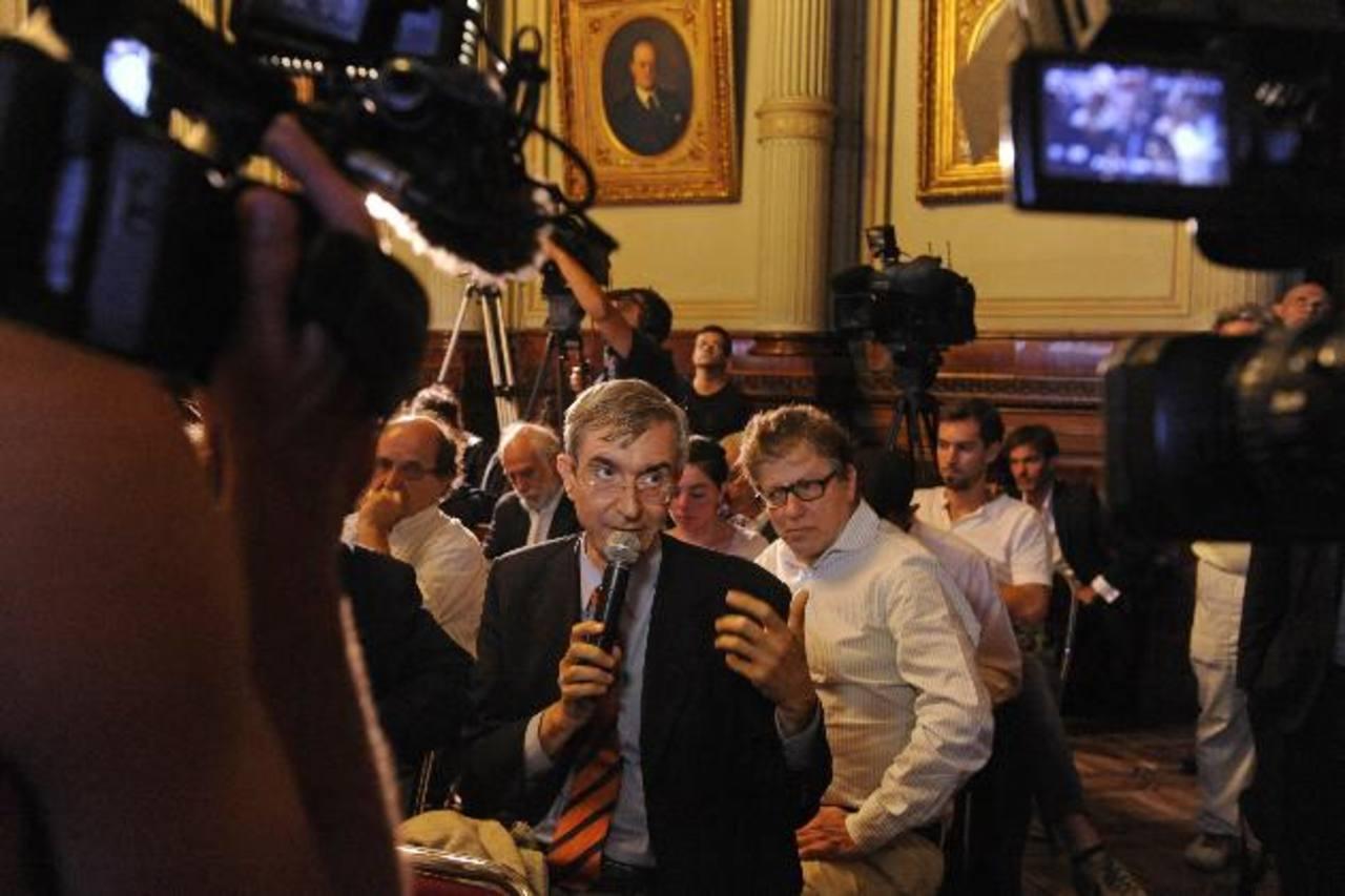 Periodistas argentinos han acudido a la entidad de la OEA para denunciar los atropellos a la libertad de expresión. foto edh /