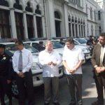 Ministro de Seguridad oficializa entrega de flota vehicular.