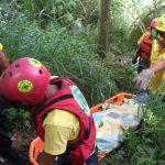 Socorristas recuperaron ayer el cadáver de un hombre que flotaba en el río Acelhuate. Foto EDH / Éricka Chávez