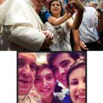 """Selfie, palabra revelación, donde ha habido incluso un """"selfie papal"""" -autorretrato del Papa Francisco con unos jóvenes."""