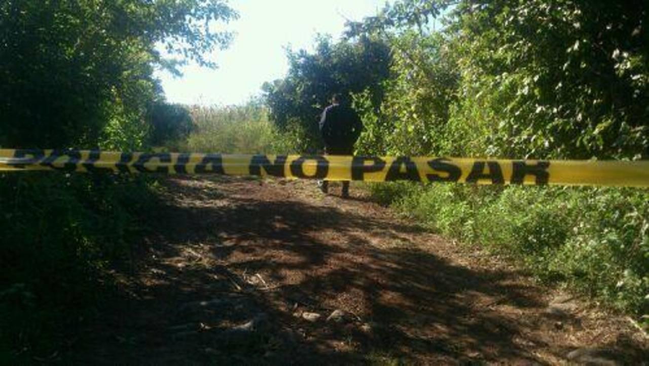 Lugar donde fue quemado un hombre en Quezaltepeque.
