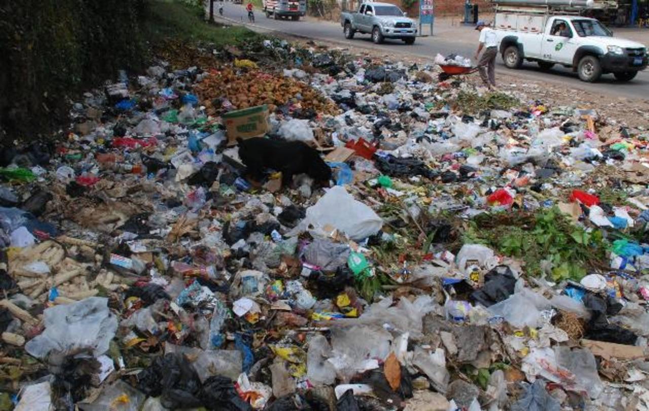 En la colonia Guzmán está uno de los basureros. Santa Ana genera a diario 220 toneladas de desechos. Foto edh / cristian díaz