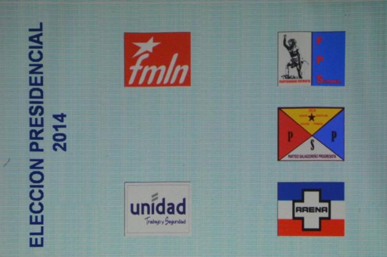 Esta será la papeleta de votación que se utilizará durante la elección presidencial del 2 de febrero de 2014. foto edh / Mauricio Cáceres