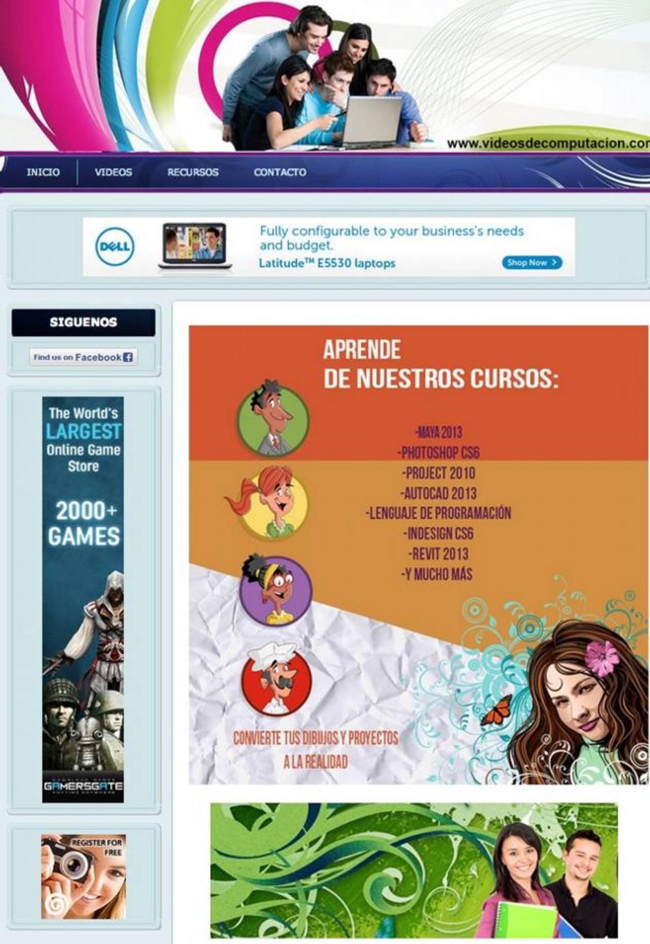 www.videosdecomputacion.com es un sitio creado por salvadoreños para la enseñanza de programas informáticos.