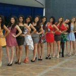 Candidatas que participan para ser la reina de Antiguo Cuscatlán.