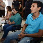 Claudia, Andrea y Alejandro podrían purgar hasta 50 años de cárcel. Foto EDH / Mauricio Cáceres