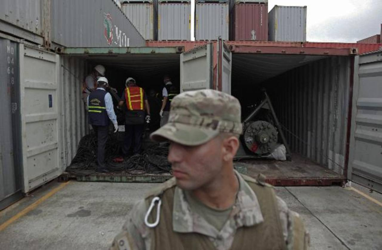 En julio de este año, varios contenedores con armamento cubano fueron localizados en el barco norcoreano cuando intentaba cruzar por la vía marítima de Panamá. Foto/ Archivo