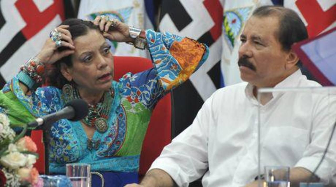 El gobernante izquierdista Daniel Ortega y su esposa Rosario Murillo. Fotos edh