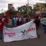 Manifestantes del partido Libertad salieron a las calles en Tegucigalpa
